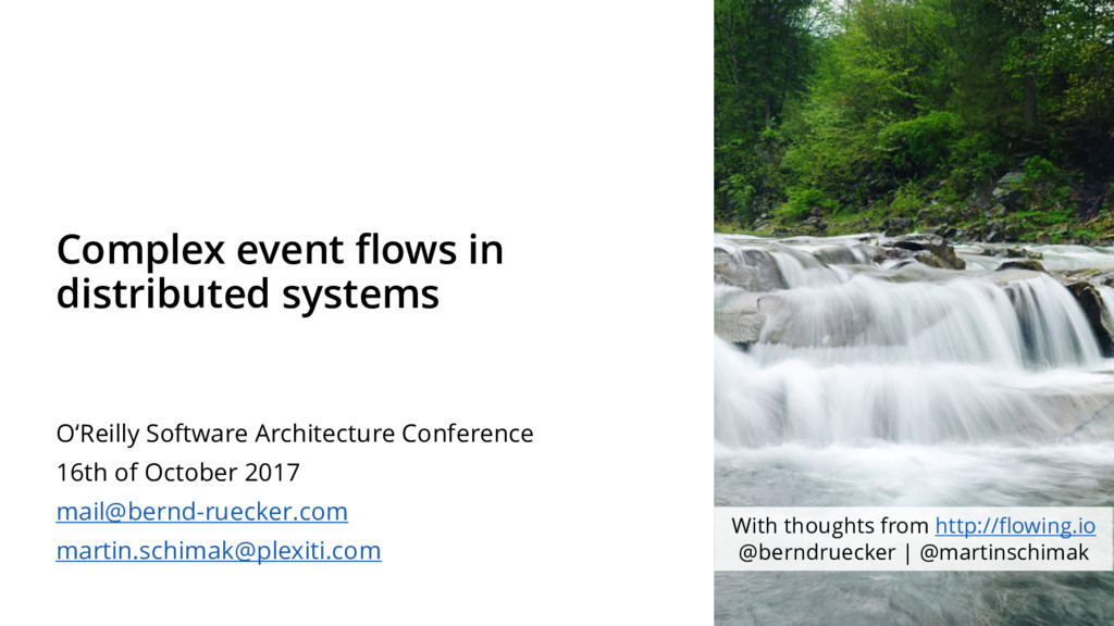 Complex event flows in distributed systems O'Re...