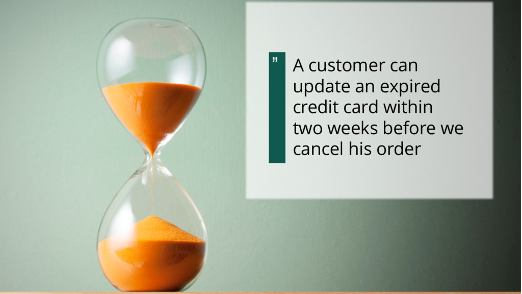 A customer can update an expired credit card wi...
