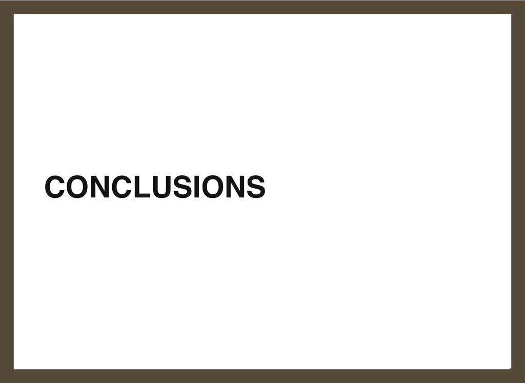 CONCLUSIONS 22