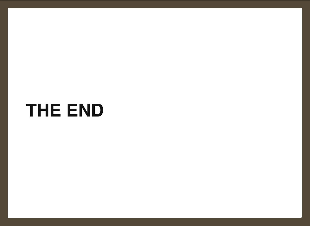 THE END 25