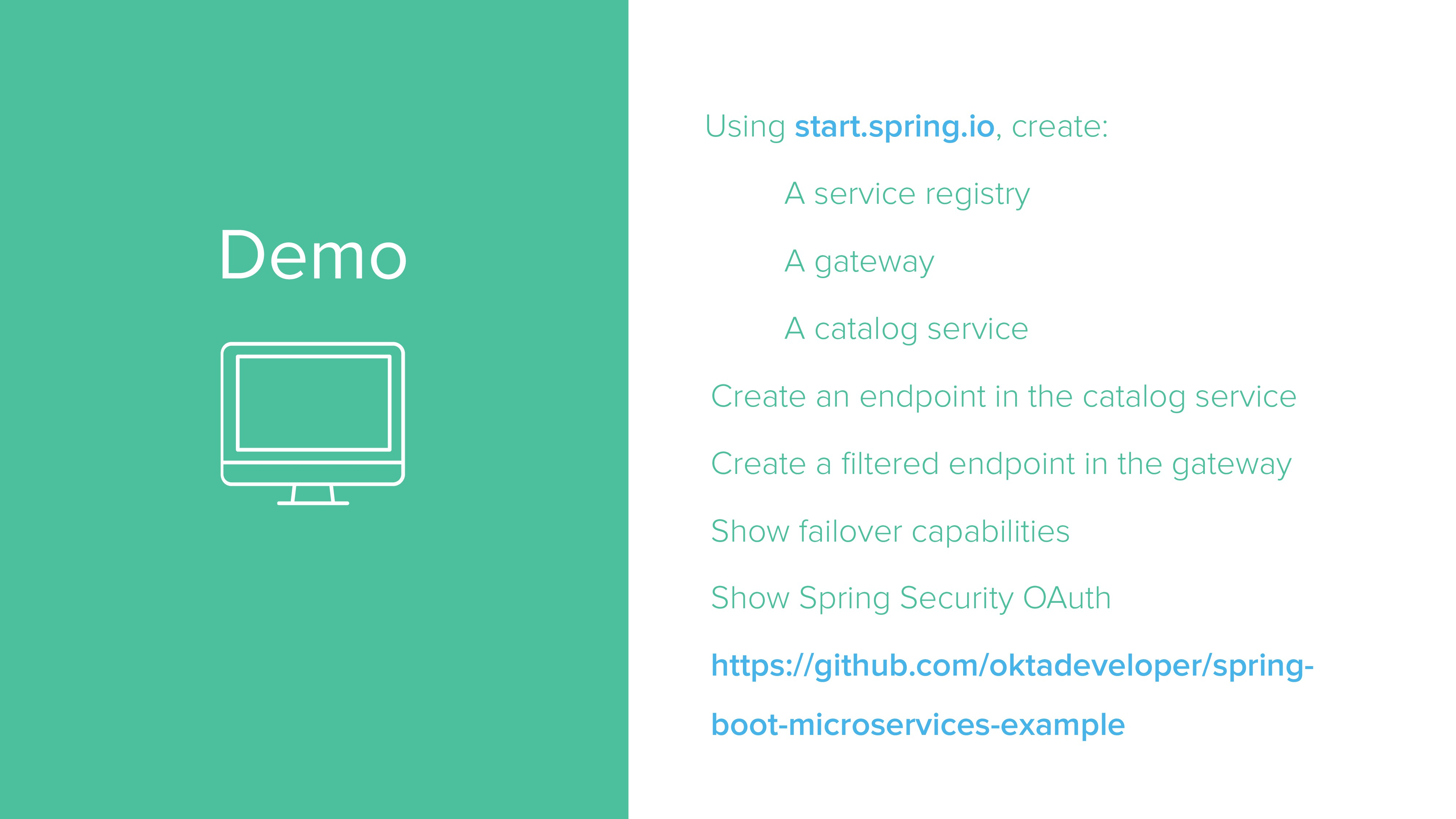 Demo Using start.spring.io, create: A service r...