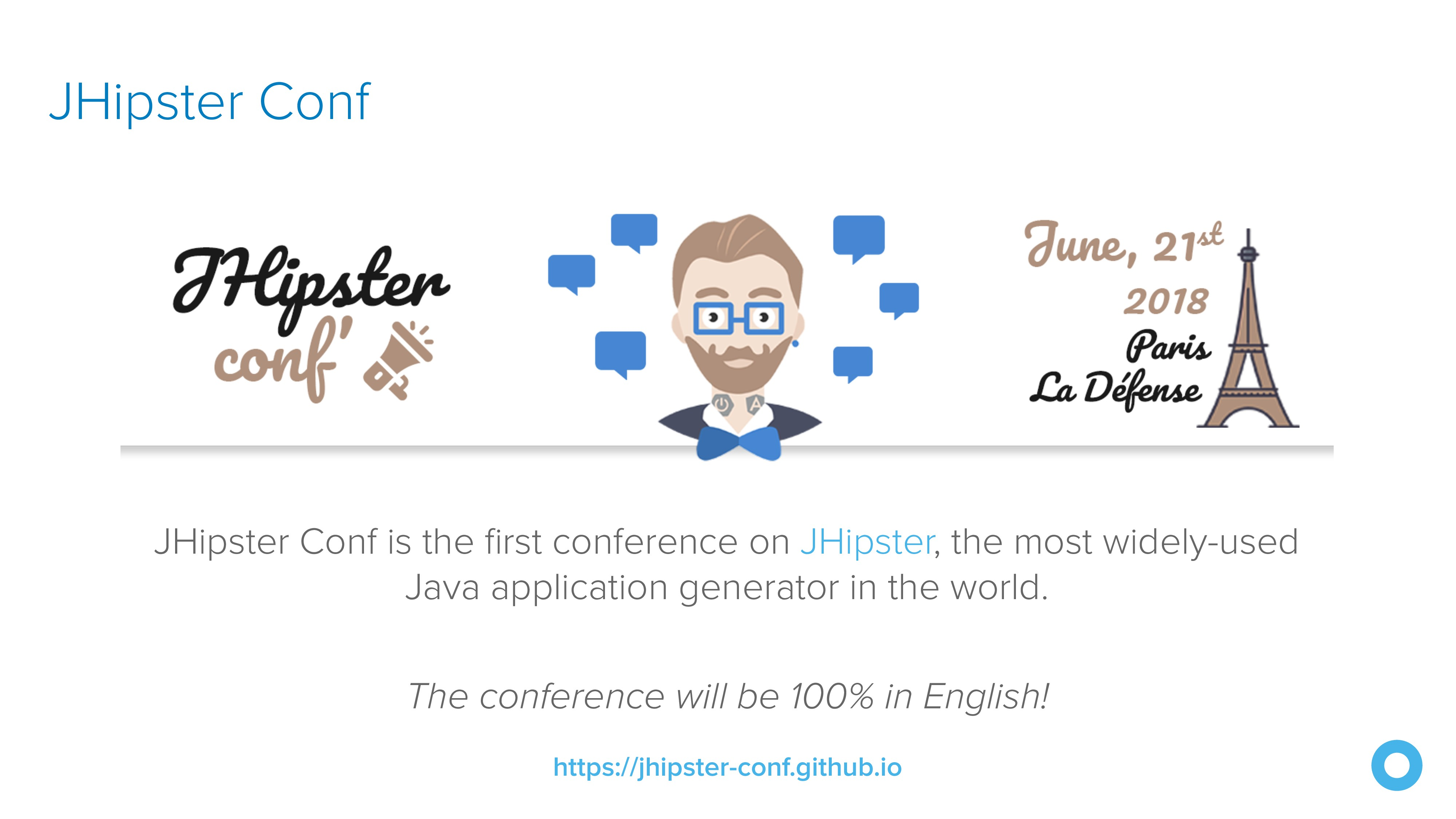 JHipster Conf JHipster Conf is the first confere...