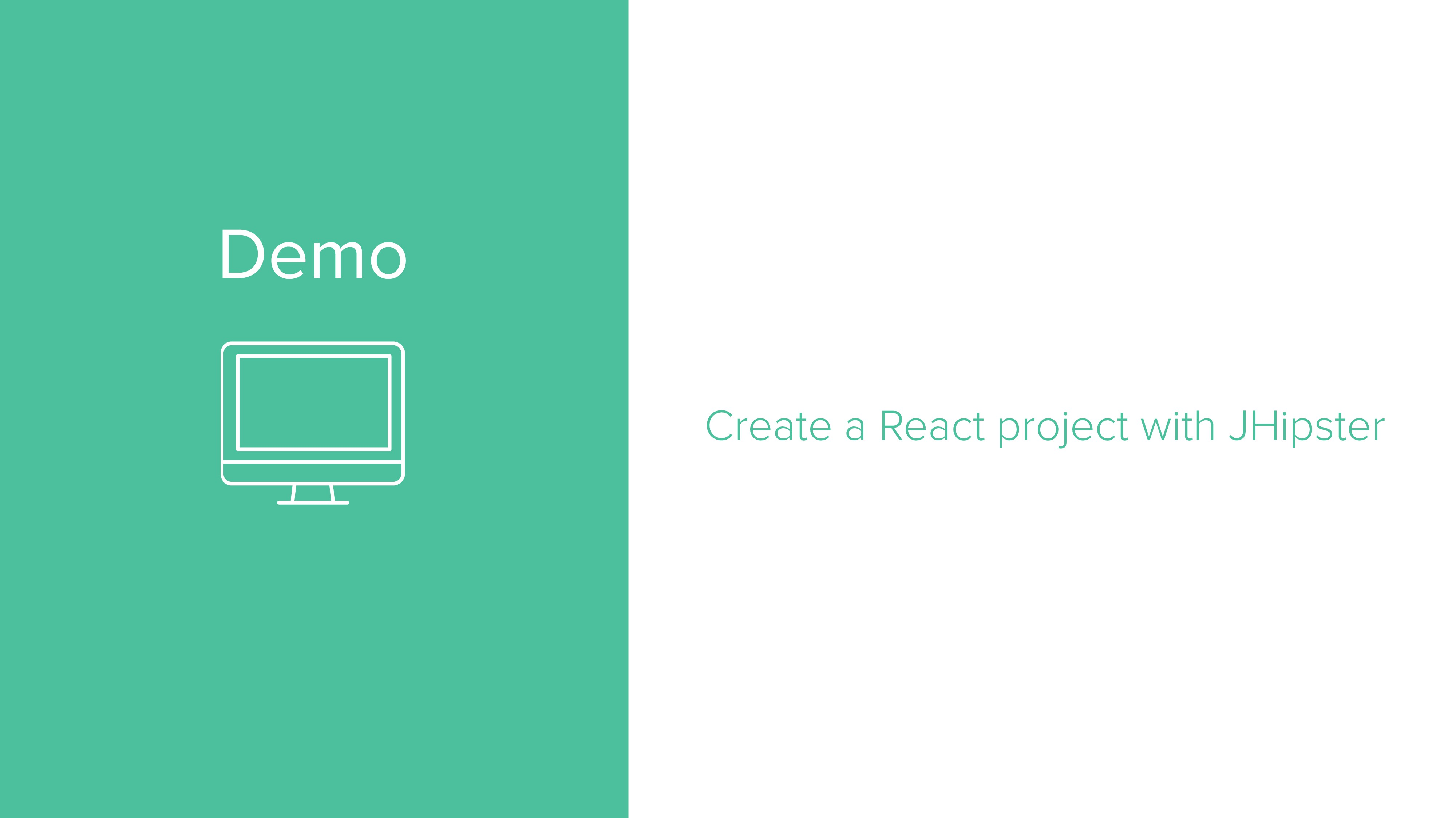 Demo Create a React project with JHipster