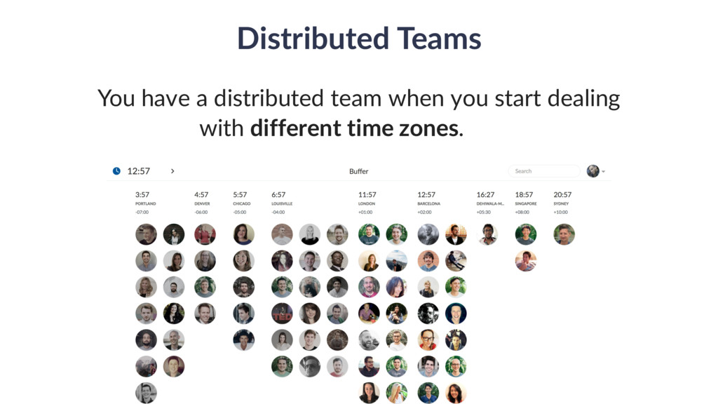 Distributed Teams You have a distributed team w...