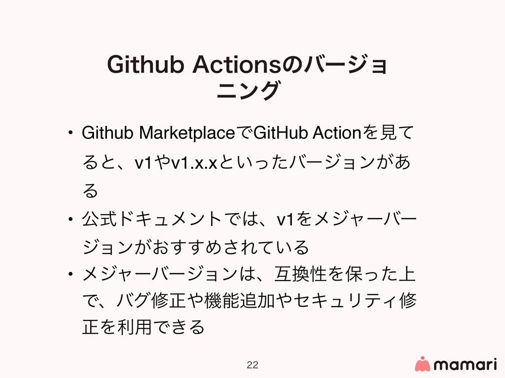 • Github MarketplaceͰGitHub ActionΛݟͯ Δͱɺv1...