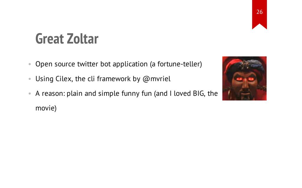Great Zoltar • Open source twitter bot applicat...