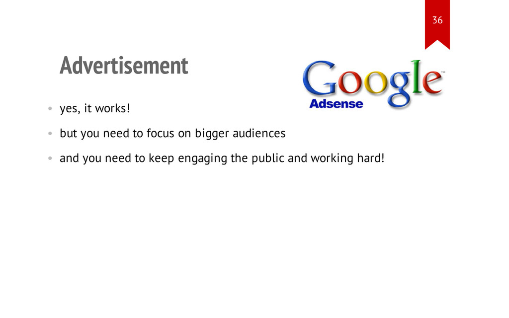 Advertisement • yes, it works! • but you need t...