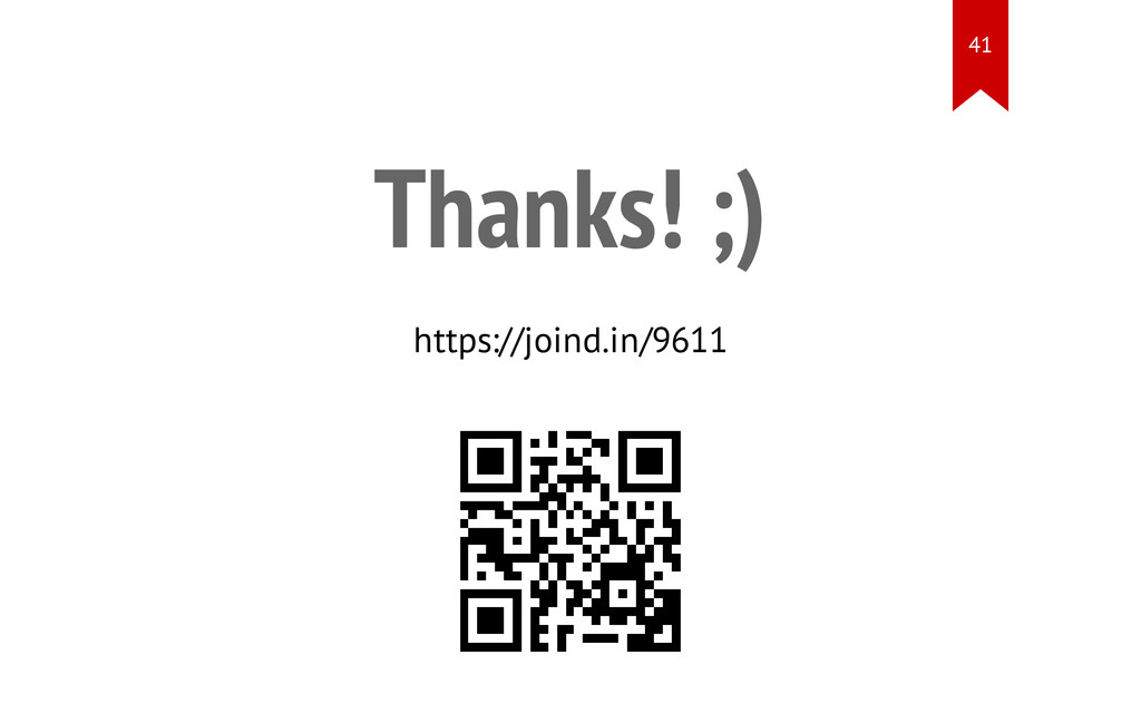 Thanks! ;) https://joind.in/9611 41