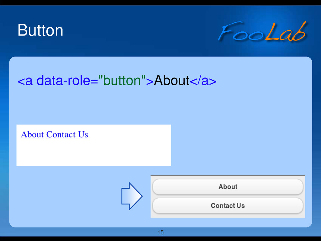 "15 Button <a data-role=""button"">About</a>"
