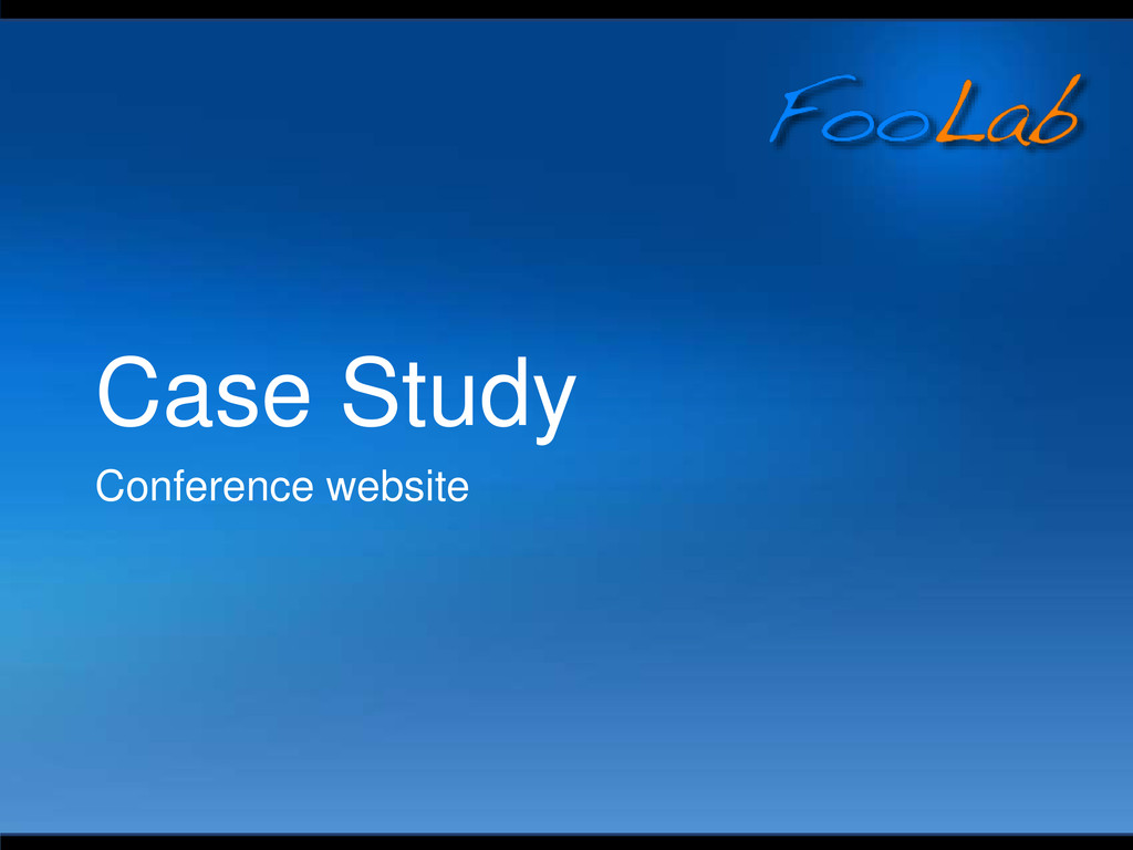 Case Study Conference website