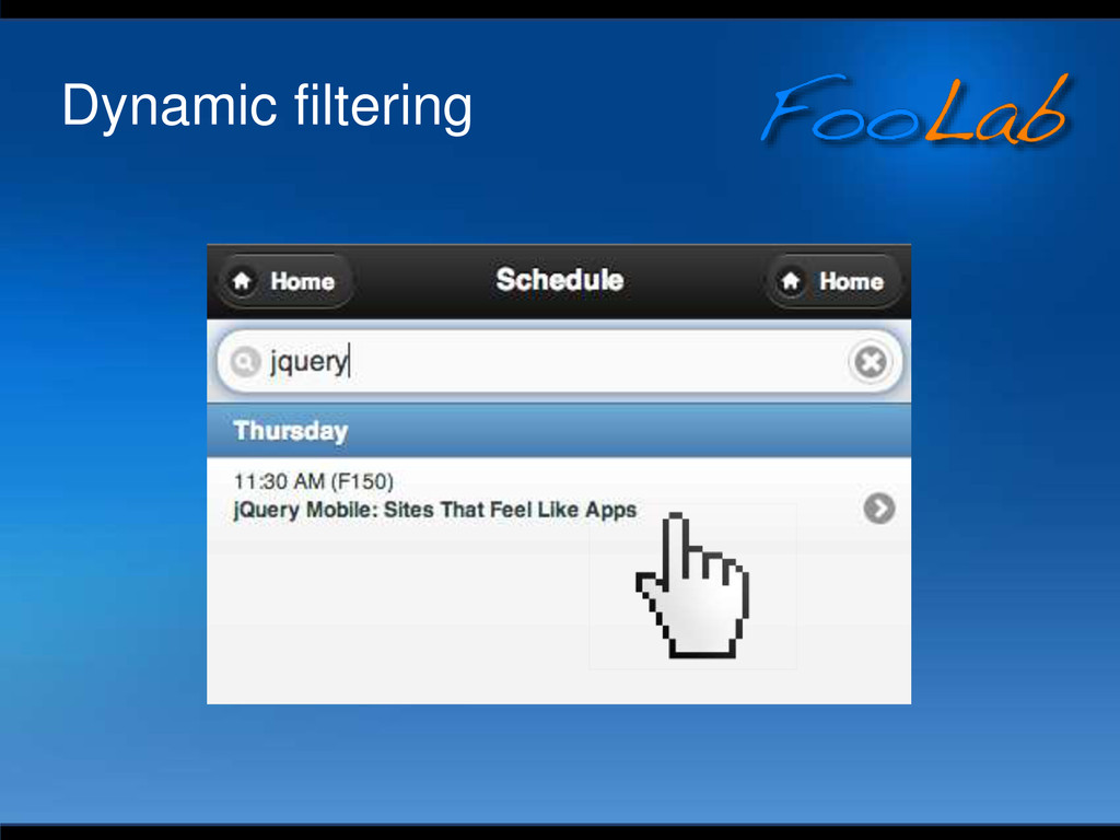 Dynamic filtering