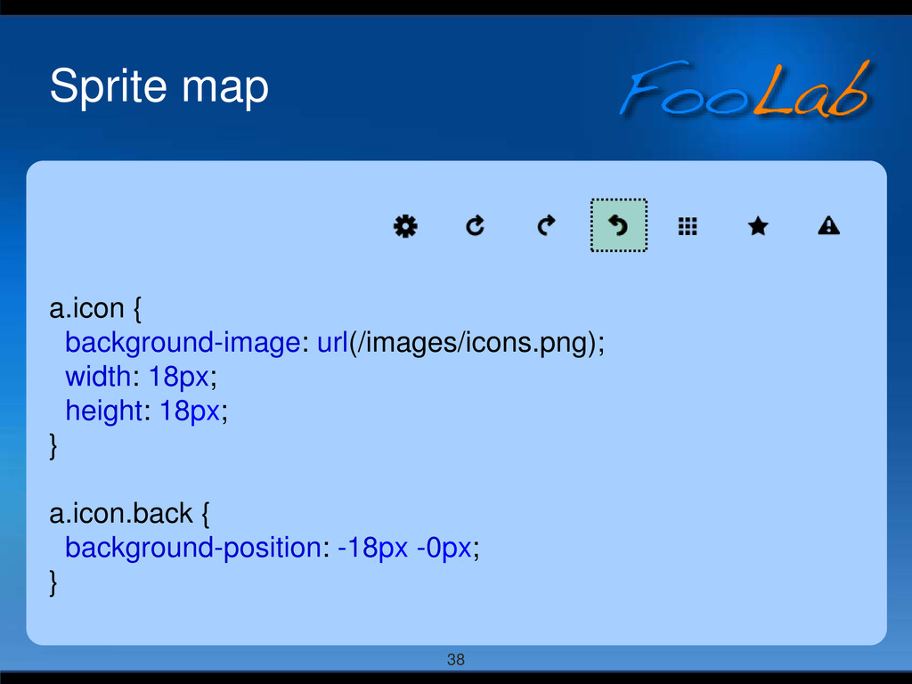 38 Sprite map a.icon { background-image: url(/i...
