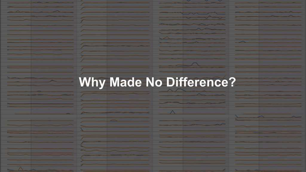 Why Made No Difference?