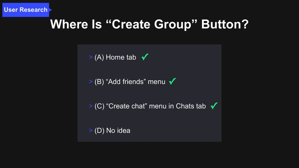 """Where Is """"Create Group"""" Button? User Research >..."""