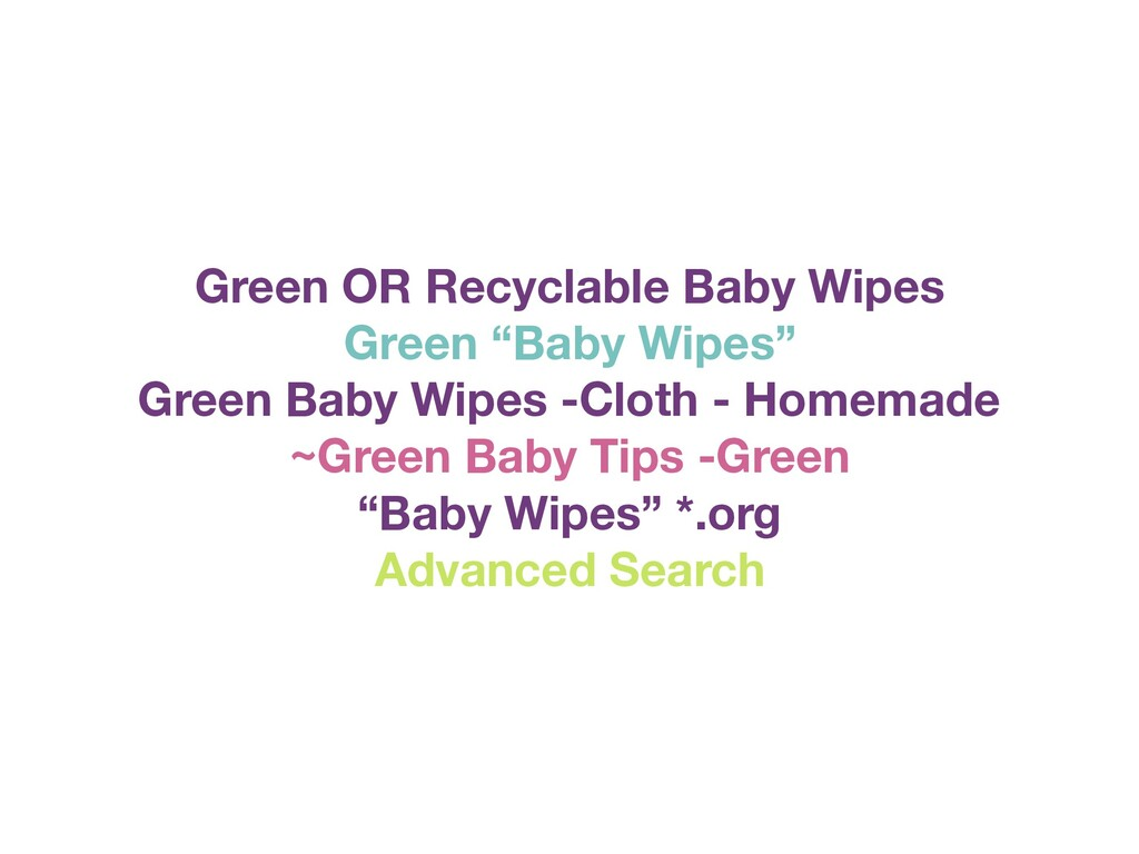 """Green OR Recyclable Baby Wipes Green """"Baby Wipe..."""
