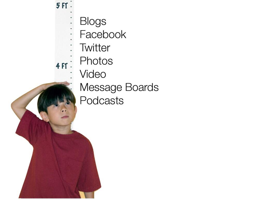 Blogs Facebook Twitter Photos Video Message Boa...