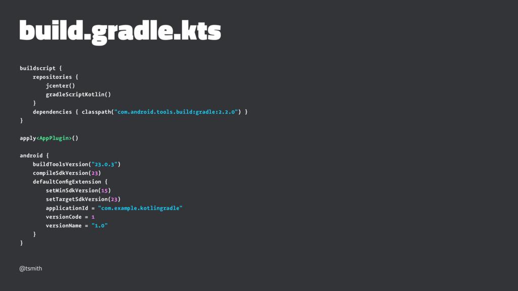 build.gradle.kts buildscript { repositories { j...