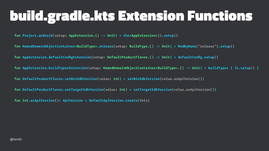 build.gradle.kts Extension Functions fun Projec...