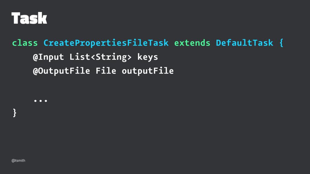 Task class CreatePropertiesFileTask extends Def...