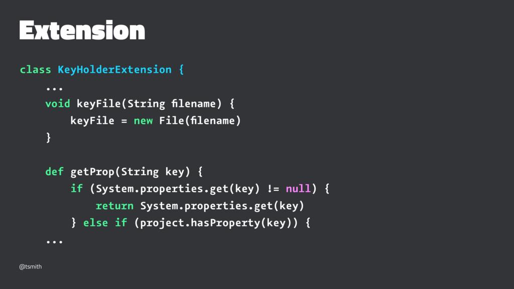 Extension class KeyHolderExtension { ... void k...