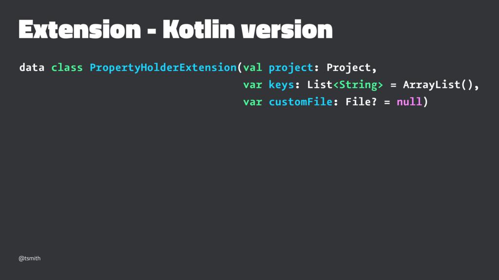 Extension - Kotlin version data class PropertyH...