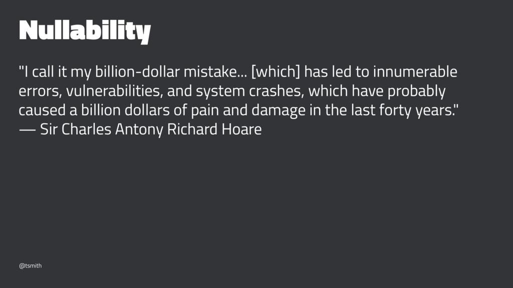 "Nullability ""I call it my billion-dollar mistak..."