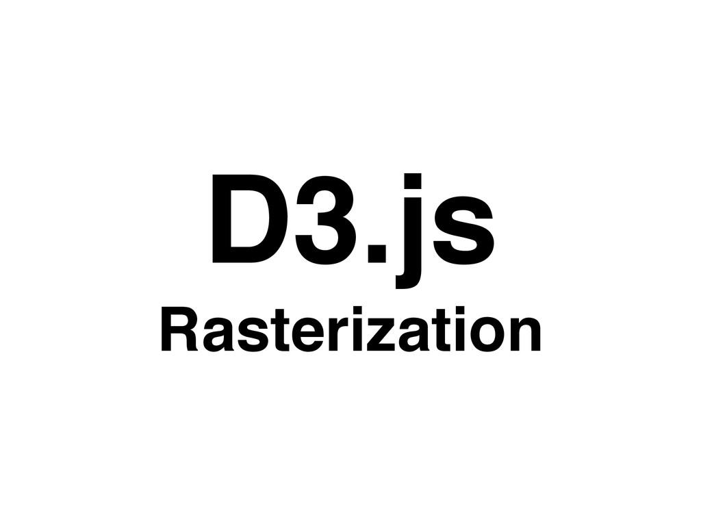D3.js Rasterization