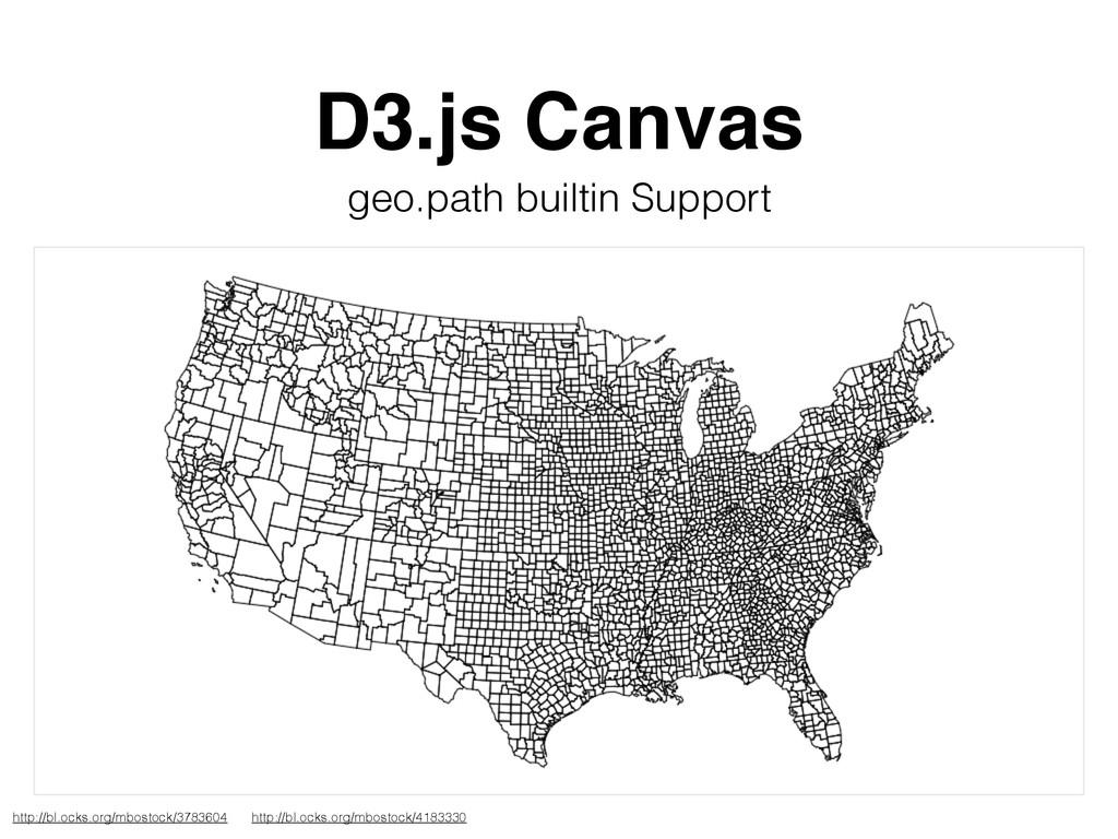 D3.js Canvas geo.path builtin Support http://bl...