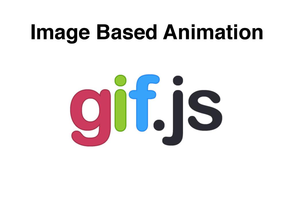 Image Based Animation