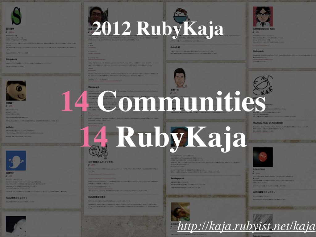 14 Communities 14 RubyKaja 2012 RubyKaja http:/...