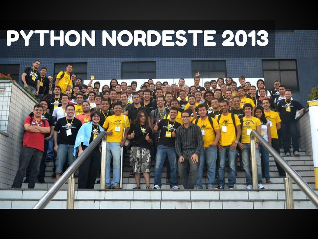 PYTHON NORDESTE 2013