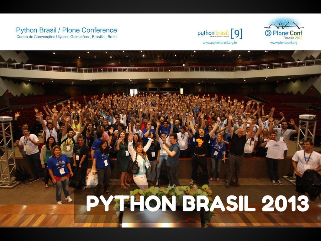 PYTHON BRASIL 2013