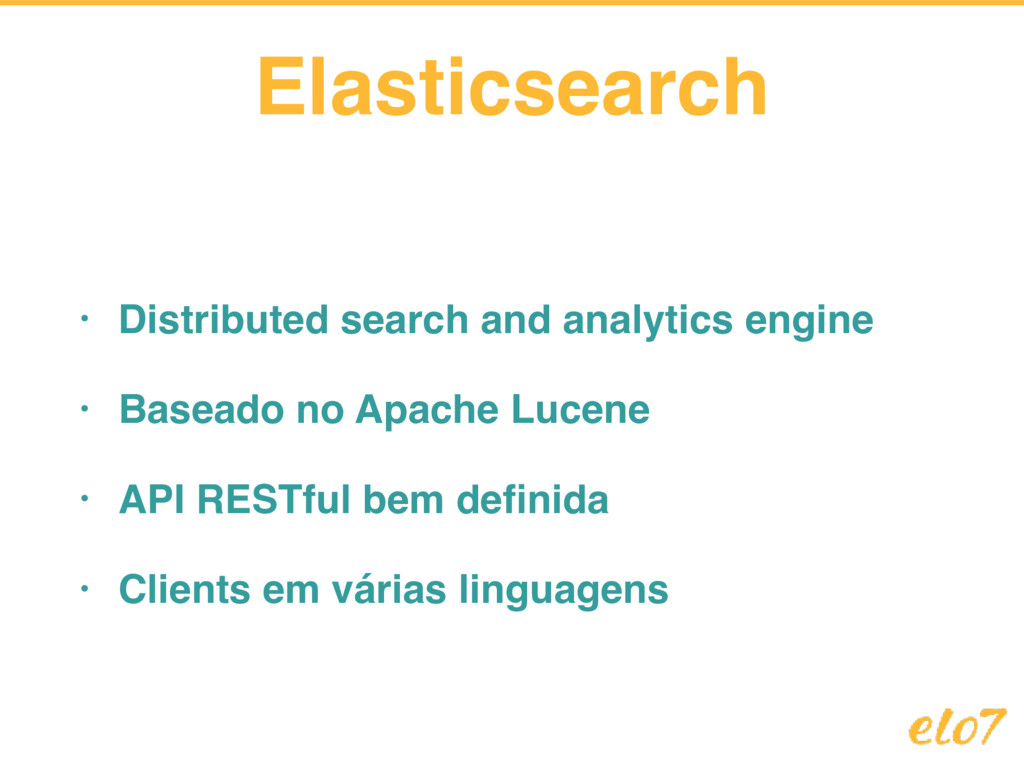 Elasticsearch • Distributed search and analytic...