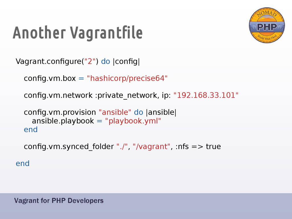 "Another Vagrantfile Vagrant.configure(""2"") do 