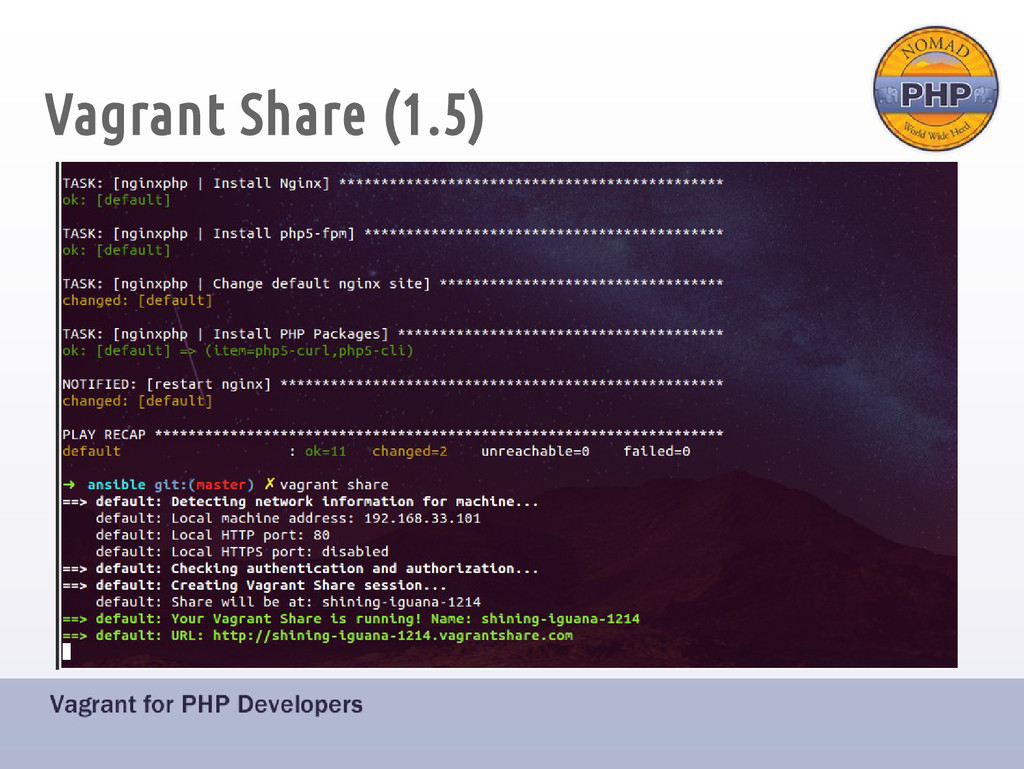 Vagrant Share (1.5)