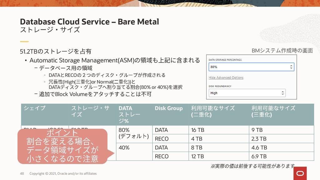 51.2TB • Automatic Storage Management(ASM) - ◦ ...