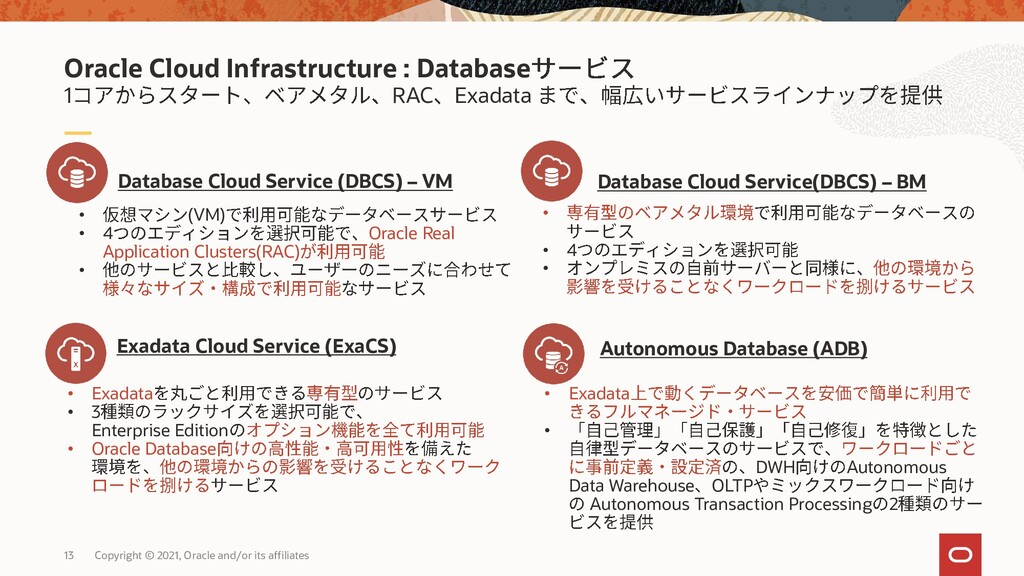 1 RAC Exadata Oracle Cloud Infrastructure : Dat...