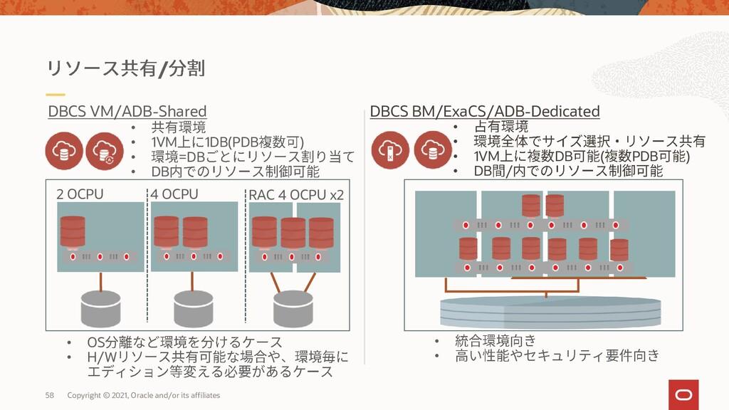 / • • 1VM 1DB(PDB ) • =DB • DB 2 OCPU 4 OCPU • ...