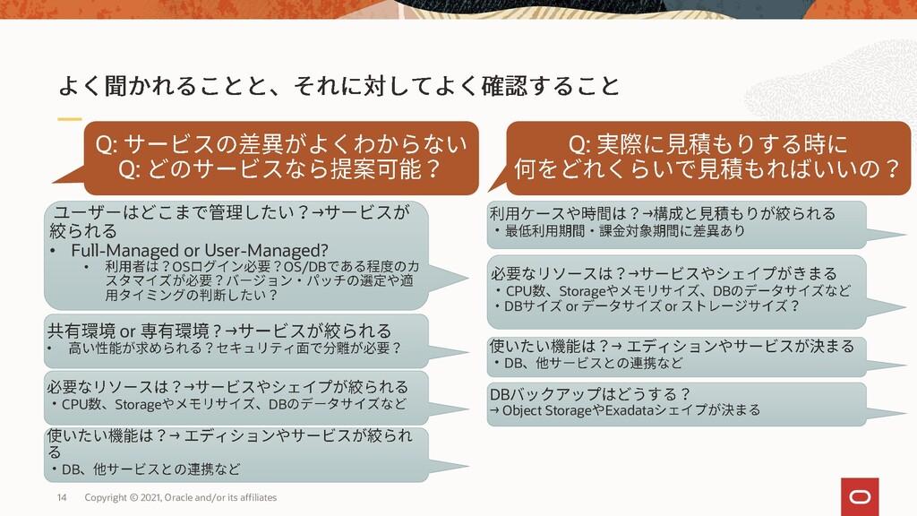 Q: Q: Q: → • Full-Managed or User-Managed? • OS...