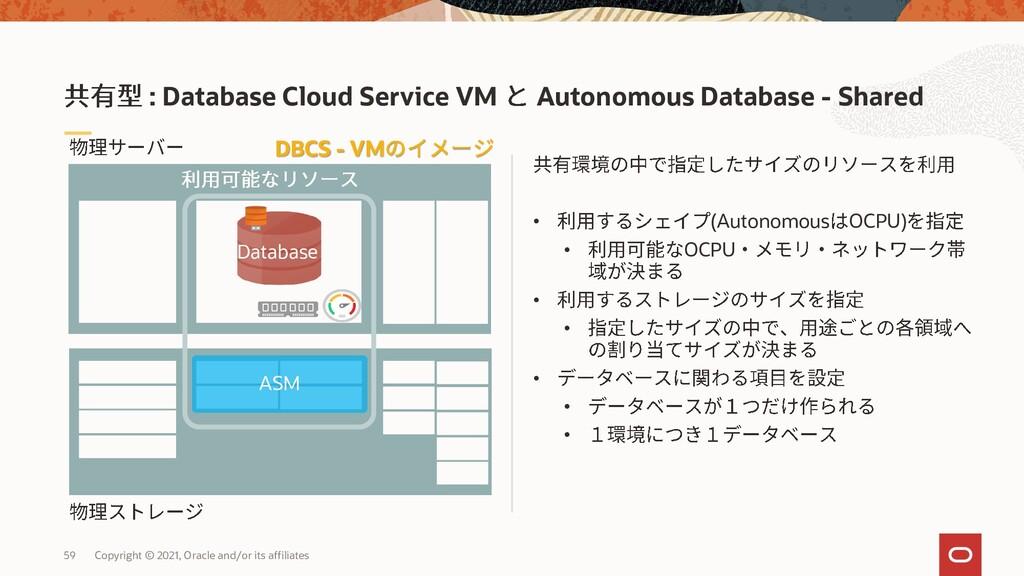 • (Autonomous OCPU) • OCPU • • • • • : Database...