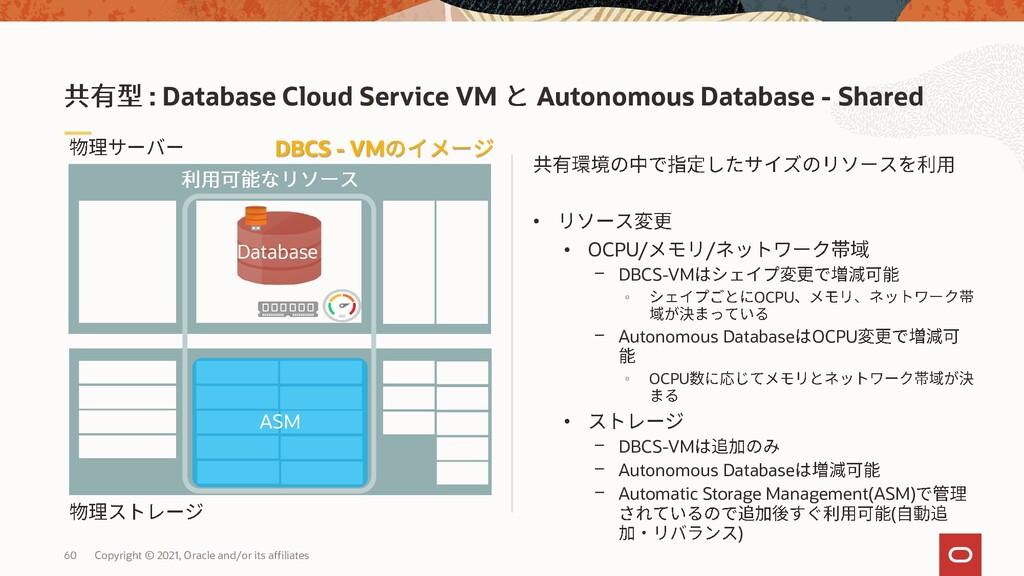 • • OCPU/ / - DBCS-VM ◦ OCPU - Autonomous Datab...