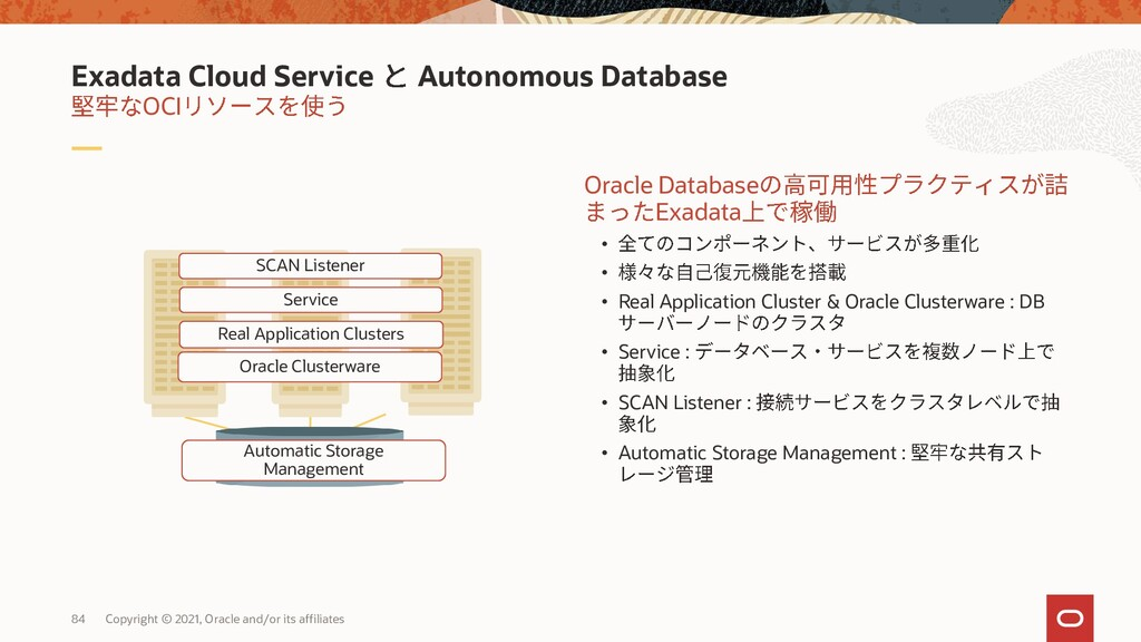 Exadata Cloud Service Availability Domain 1 Cli...