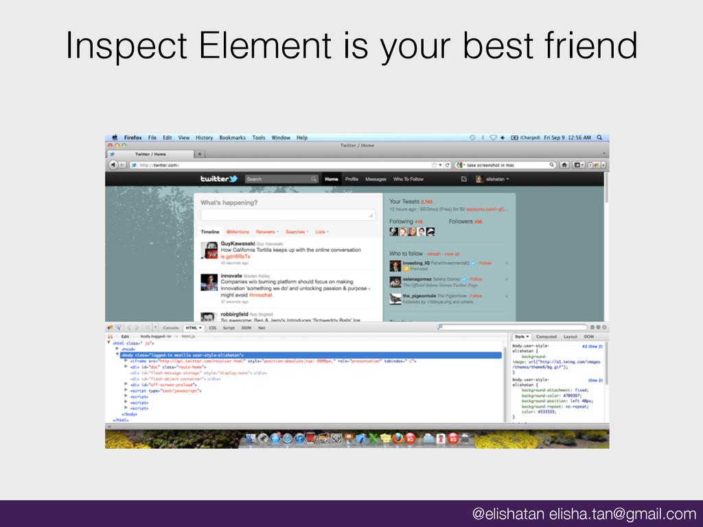@elishatan elisha.tan@gmail.com Inspect Element...