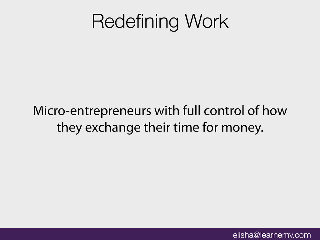 Micro-entrepreneurs with full control of how th...