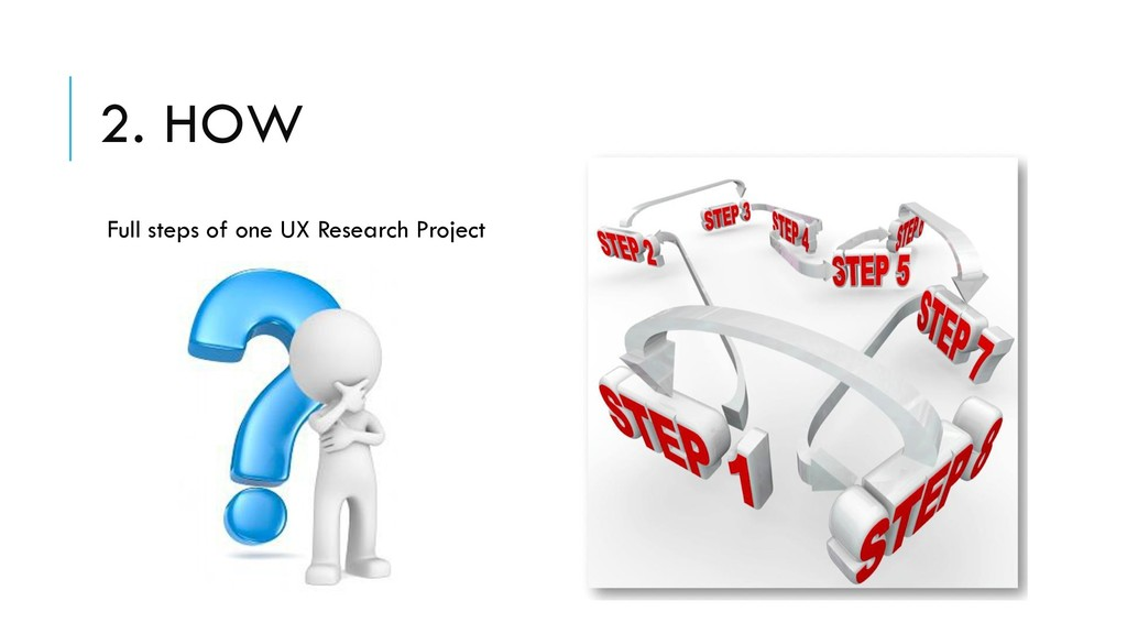 2. HOW Full steps of one UX Research Project