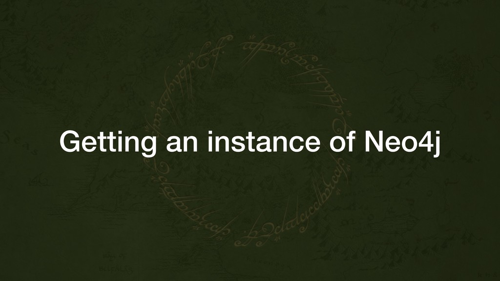 Getting an instance of Neo4j