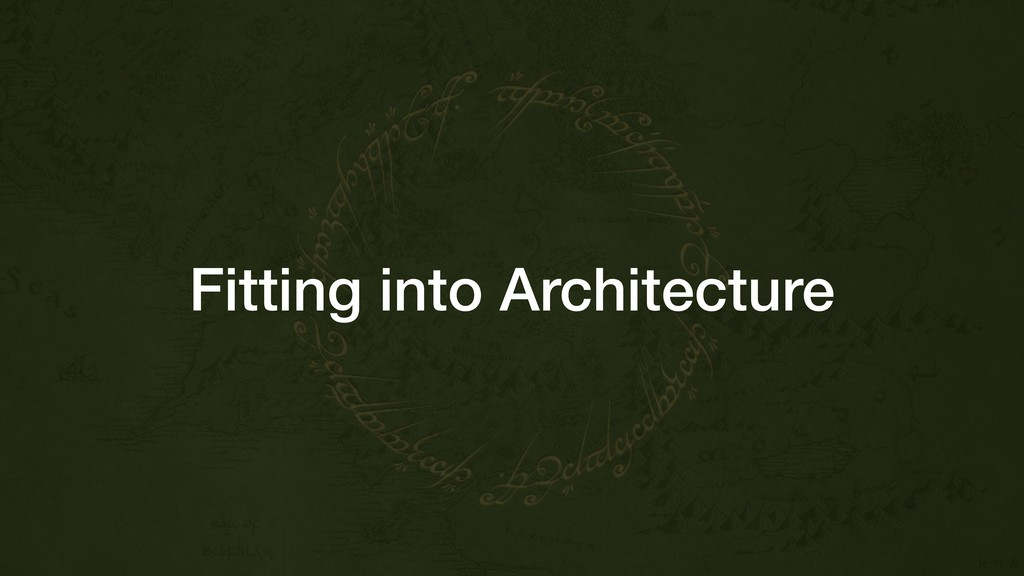 Fitting into Architecture