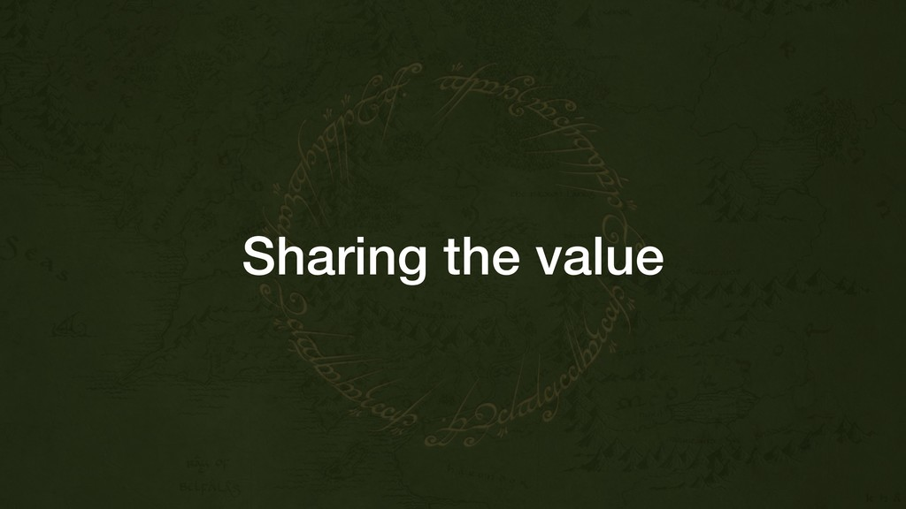 Sharing the value