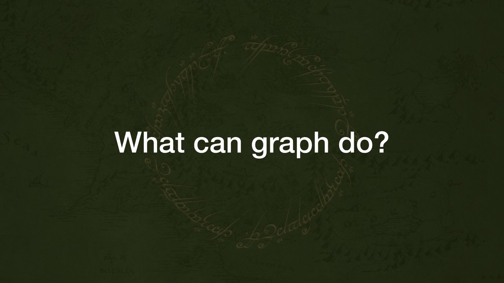 What can graph do?