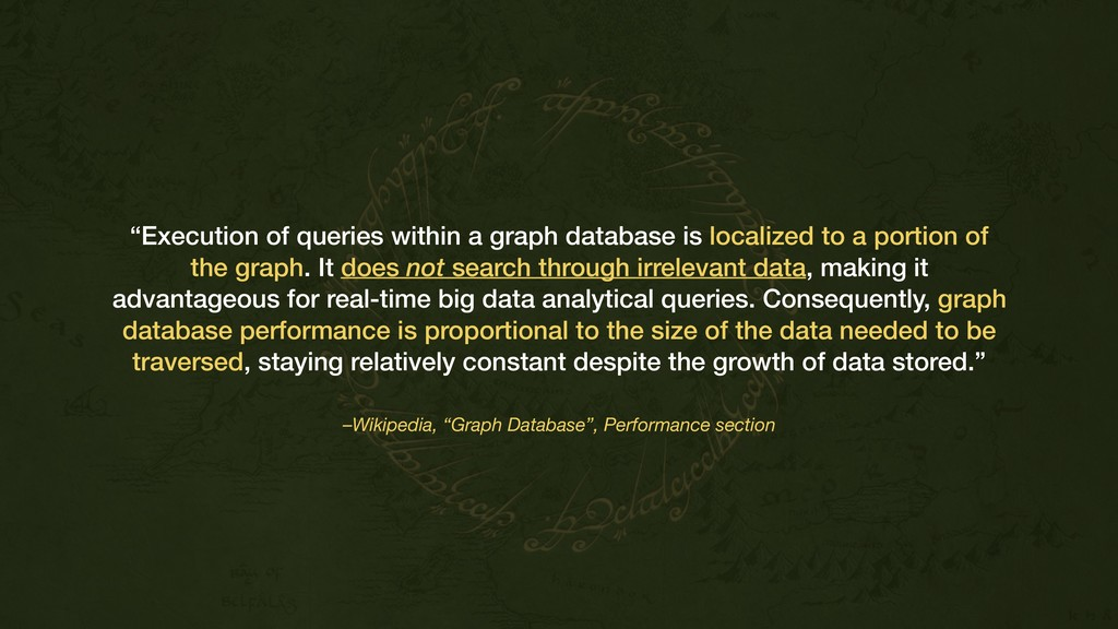 "–Wikipedia, ""Graph Database"", Performance secti..."